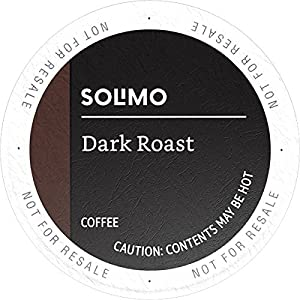Amazon Brand – 100 Ct. Solimo Dark Roast Coffee Pods, Compatible with Keurig 2.0 K-Cup Brewers