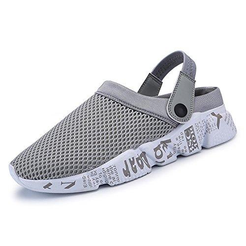 Tacco Scarpe on in alla da Cinture 46 Tinta Fino Taglia Tessuto Rete shoes Xujw con Unita Piatto 2018 Uomo Nuovo Slip a Grigio Mocassini wq8wxZvAU