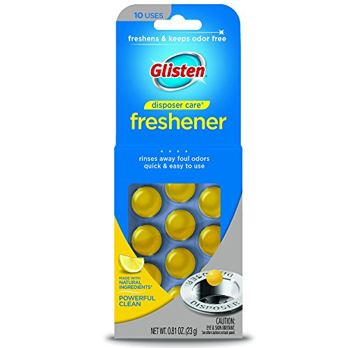 Glisten Disposer Care Freshener, Lemon Scent, 10 Use (Make A Pipe Out Of Household Items)