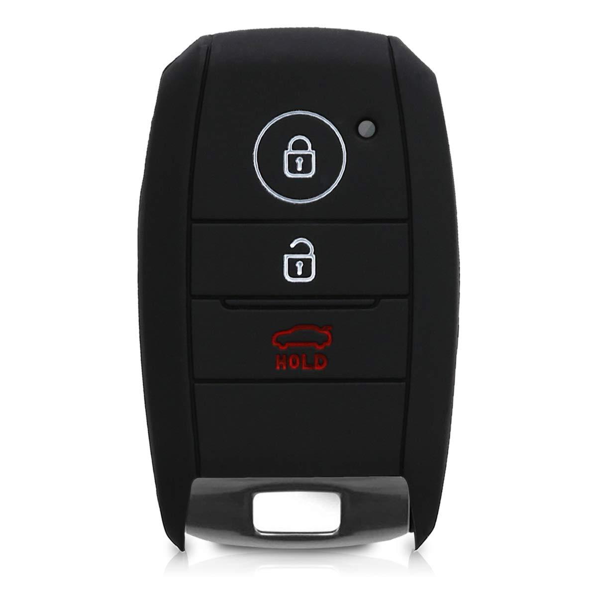 Guscio Protettivo coprichiave kwmobile Cover Chiave Auto per Kia Protezione in Silicone Custodia per Chiave Kia con 3 Tasti Smartkey