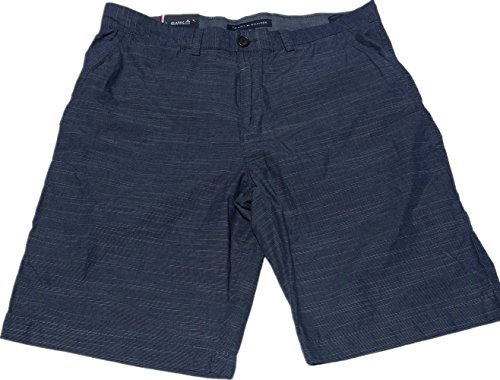 Tommy Hilfiger Mens Flat Front Shorts (34W, As is Navy)