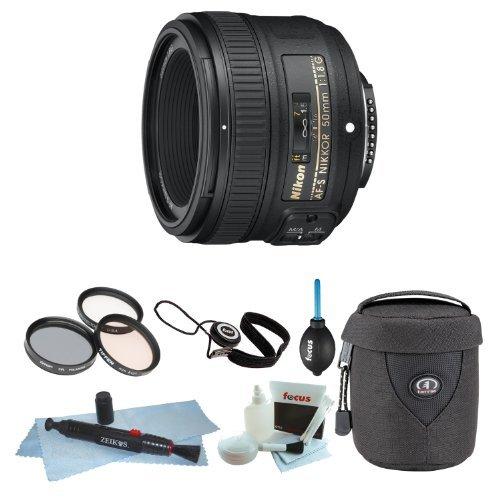 Nikon AF-S NIKKOR 50mm f/1.8G Lens with Tiffen 58mm Photo Essentials Kit + Me...