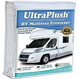 UltraPlush Premium RV Short Queen Waterproof Mattress Protector - Super Soft Quiet Cover