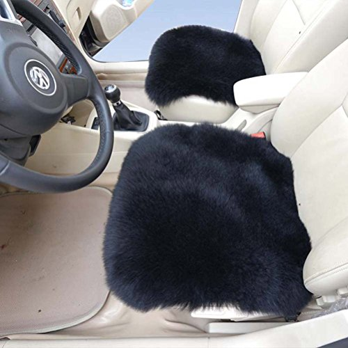 Australian Genuine Sheepskin Car Seat Cushion with Airbag Compatible 1 Pair Car Seat Covers (1 pair, - Estimate Usps Time Shipping