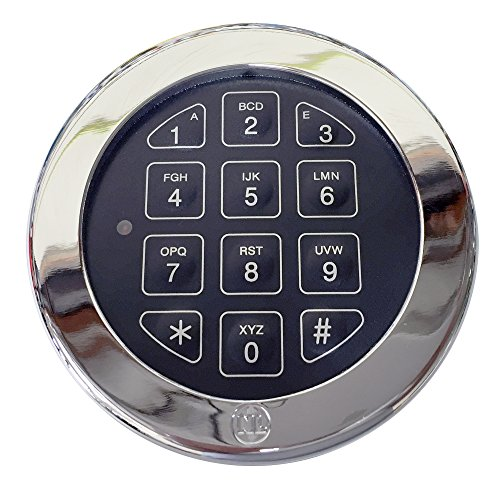 Electronic Digital Keypad Lock for Safes, (NL-Lock EM20-25) Swing Roto-Bolt Safe Lock UL Listed. Standard Footprint to Replace S&G, LaGard, Securam