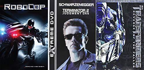 Robot Men/ Part Human Part Machine/ ROBOTS: 3 Movie Collection Robocop (2014) + Terminator 2 & Transformers 2: Revenge of the Fallen (2 Disk Special Edition) Mega Robot Pack