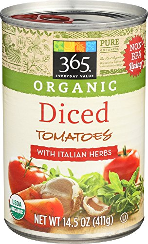 - 365 Everyday Value, Organic Diced Tomatoes with Italian Herbs, 14.5 Ounce