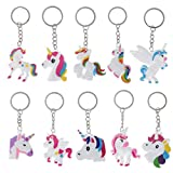 Best Birthday Party Favors - (10Pack)Unicorn Keychains, Key Ring Decoration Birthday Party Favor Review