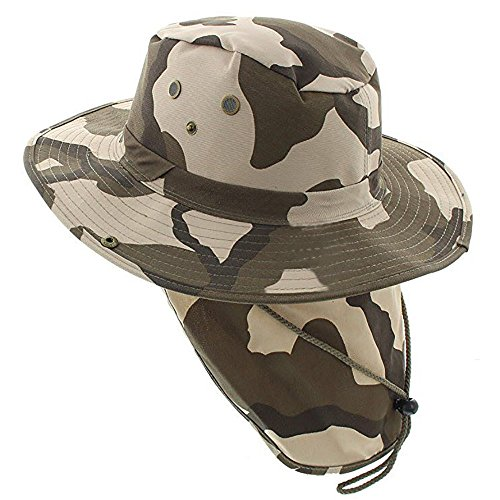 The Hat Jungle boonie Bucket Hat Neck Flap Tactical Wide Brim Outdoor Military