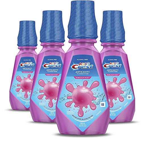 Crest Kid's Anticavity Fluoride Rinse, Bubblegum Rush, Pack of 4 ()