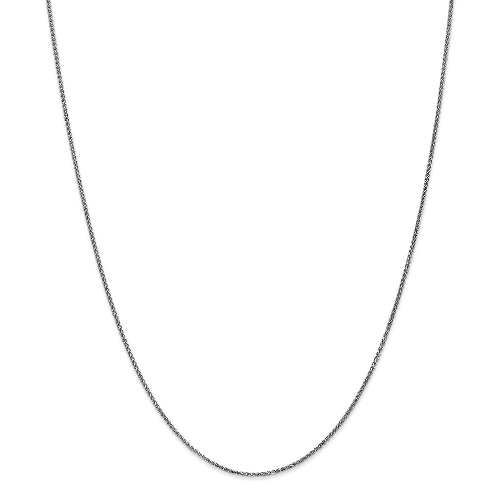 14kt White Gold 1.2mm Solid D//C Spiga Chain; 16 inch