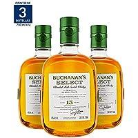 3X2 Whisky Buchanan's Select 15 Años - 750ml (Paquete de 3 botellas)
