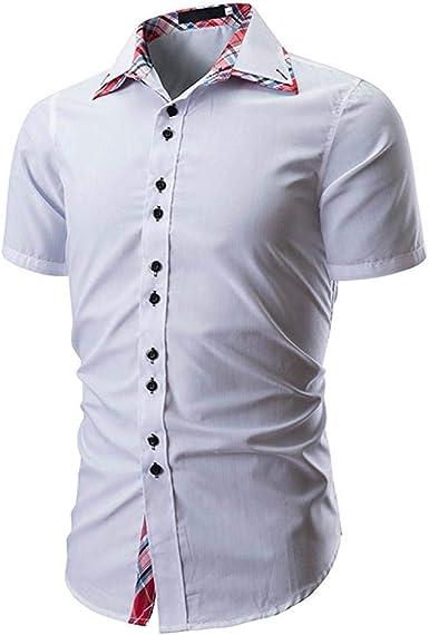 Camisa De Manga Corta para Hombre Camisa Casual De Manga Ropa de Fiesta Corta Slim Fit