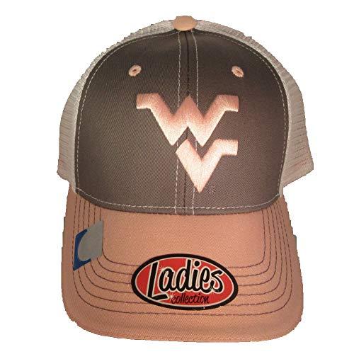 (Collegiate Headwear West Virginia Mountaineers with Mesh Back Ladies Baseball Cap.)