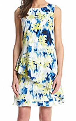 Tommy Hilfiger Womens Waterfall-Floral Dress