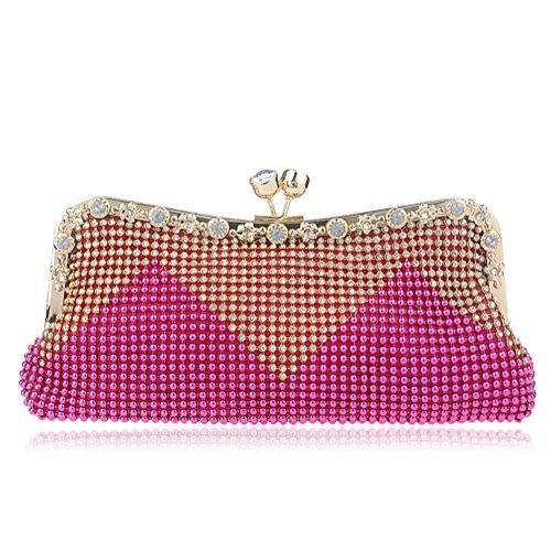 Clutch Joker Plum Bag ZYXCC New Bag Diamond Women's red Fashion Dinner SHISHANG 5AwTHT