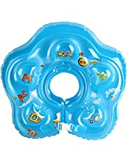 Baby Swimming Float, Inflatable Neck Ring Float Soft Bathtub Ring Toy, Childrens' First Swim Floaties Bathtub Toys Pool Accessories for Kids Toddlers, 3-24 Months
