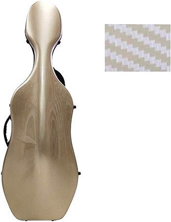 BGROEST Estuche de Violonchelo de Tamaño Completo para EST 4/4 Transporte Aéreo Duro Cello Cello Caja Bolsa de compresión y Caso Cello Impermeable for Adultos (Color : Metallic, tamaño : 4/4): Amazon.es: Hogar