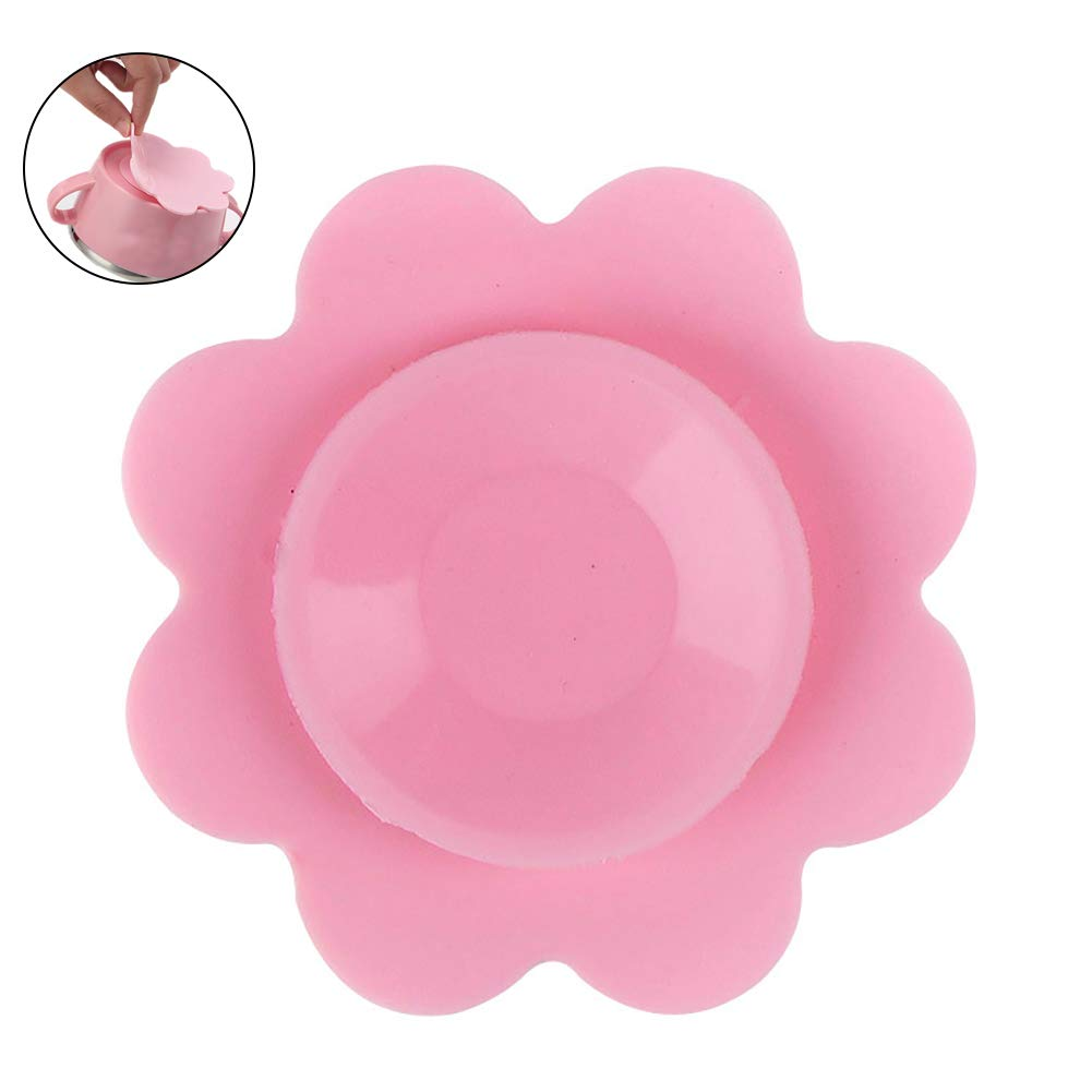 YaptheS Baby Toddler Kids Magical Anti-Slip Silicone Tableware Suction Mats Double-Sided Coaster Thick Washable Portable Dish Bowl Cup Suction Mat(Pink) Nice Gift