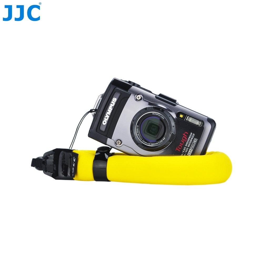 JJC-Cinturino da polso galleggiante per fotocamera colore rosso