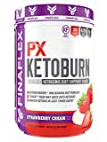 PX Ketoburn, Get in Ketosis in 3 Days, Burn Fat, Ketone Bodies, Macadamia as Fat, Cheat into Keto, Keto Snack, No MCT, No Stomach Discomfort, Ketogenic Diet Friendly (20 Serving, Strawberry Cream)