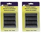 Magnum Magnetics-Corporation ProMAG Round Ceramic Magnets, 3/4'' 2 pack