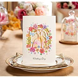 50pcs Wedding Invitation Card Garden Card Bride Groom Invitation Card Wedding Card