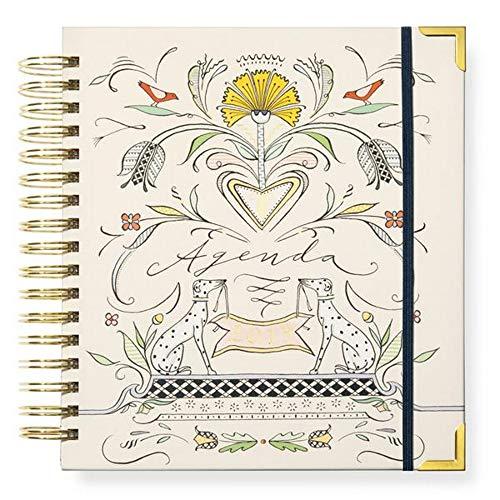 Karen Adams 2019 Daily Agenda Spiral Planner Calendar with Gift Box (Desk Calendar Bound Spiral)