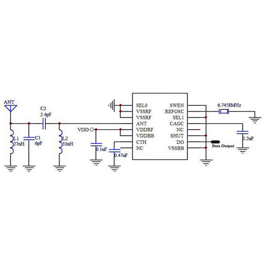 Baodanjiayou 1/Lot 433/MHz Superheterodyne r/écepteur RF Module /émetteur kit avec 2/antennes