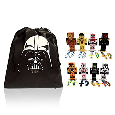 Mini Action Figure Star Warriors Toy & Bag Boxed Set