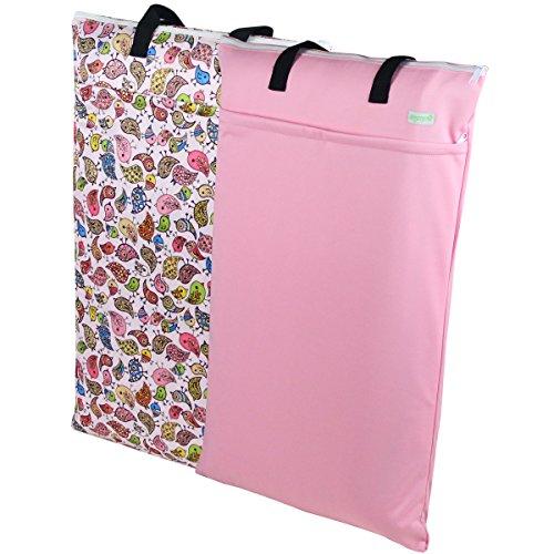 pink wet dry cloth diaper bag - 1
