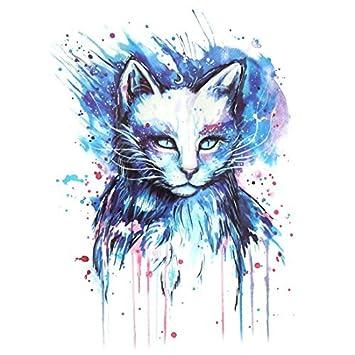 Arte Patrón eDealMax gato Hombre extraíble Cuerpo decoración del Papel de la etiqueta engomada Temporal del