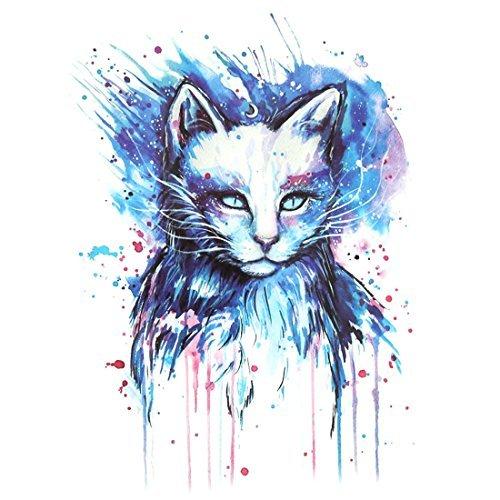 Amazon.com: Arte Patrón eDealMax gato Hombre extraíble Cuerpo decoración del Papel de la etiqueta engomada Temporal del tatuaje: Health & Personal Care