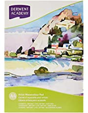 Derwent Academy WaterColour Pad, A4 Portrait, 12 Sheets