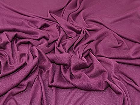 e4ba4772c62 Image Unavailable. Image not available for. Colour: Minerva Crafts Plain  Loose Drapey Stretch Jersey Knit Dress Fabric Plum - per metre
