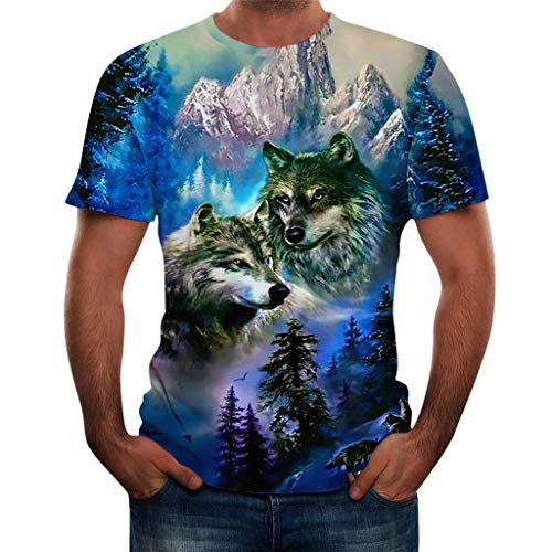 - TOPUNDER Men Summer New Full 3D Printed T Shirt Plus Size S-3XL Cool Printing Top Blouse