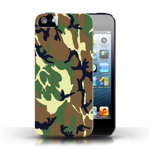 iCHOOSE Print Motif Coque de protection Case / Plastique manchon de telephone Coque pour Apple iPhone 5/5S / Collection Armée/Marine militaire/Camouflage / Vert 4