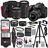 Nikon D3500 DSLR Camera with 18-55mm and 70-300mm Lenses + 64GB Card, Tripod, Flash, Battery and Deluxe Bundle