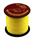 Yellow Super Strong Pe Braided Fishing Line 10LB to100LB (500M, 40LB) For Sale