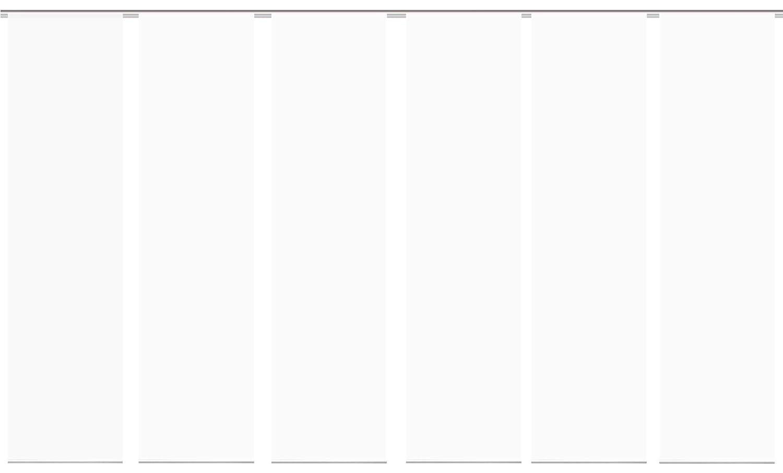 Wohnfuehlidee 6er Set Flächenvorhänge Deko Blickdicht Roma 6X Uni Weiss