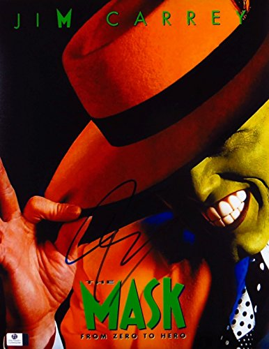 Jim Carrey Signed Autographed 11X14 Photo The Mask Movie Poster GV849284 by Cardboard Legends Online