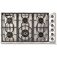 American Range Vitesse Series 36 Inch Gas Cooktop with 6 Sealed Burners