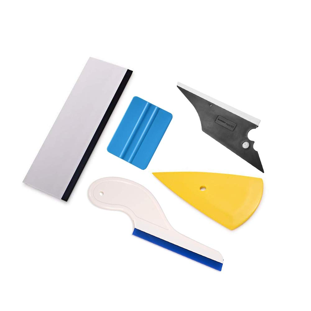 Synthiiz 5 in 1 Car Vinyl Wrap Tool Kit for Auto Film Tinting Scraper Application Installation Rubber Squeegee Set