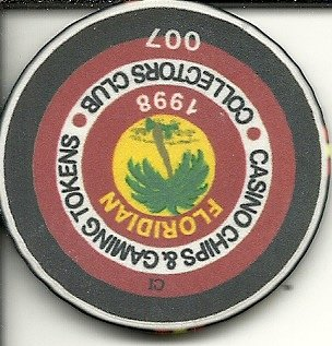 (1998 collector's club floridian casino chip)