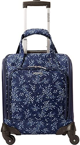 American Tourister Lynnwood 16 Inch Underseat Spinner Carry-On Luggage With Wheels – Blue Floral