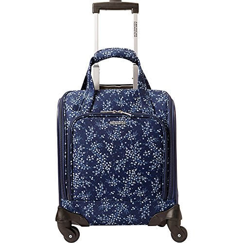 American Tourister Lynnwood 16 Inch Underseat Spinner Carry-On Luggage With Wheels - (Blue Floral)