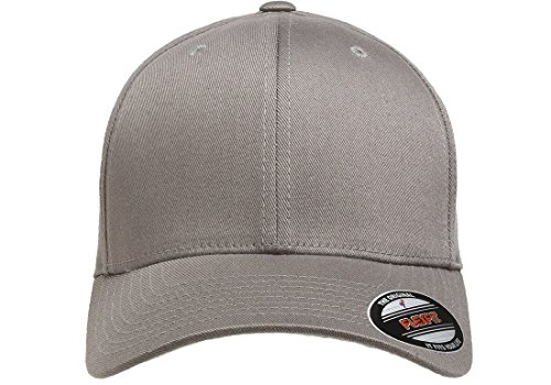 Flexfit Men's Athletic Baseball Fitted Cap, Gray, Large/X-Large