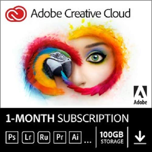 Adobe Creative Cloud | Entire collection of Adobe creative tools plus 100GB storage | 1-month Subscription with auto-renewal, PC/Mac (Adobe Cs6 Design Standard Student And Teacher Edition)