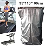 Treadmill Cover, Sports Running Machine Protective Folding Cover with Zipper Dustproof Waterproof Indoor/Outdoor Cover, Oxford Cloth, 95x110x160cm