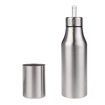 Dispensador de aceite y vinagre Aceite de acero inoxidable Aceite / vinagre / salsa Cruet Botella